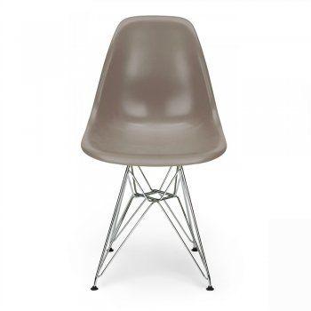 Warm Grey Eames Designed DSR Eiffel chair