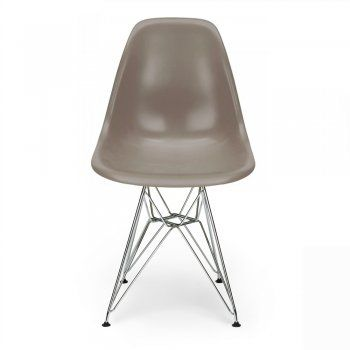 Warm Grey Eames Designed DSR Eiffel chair