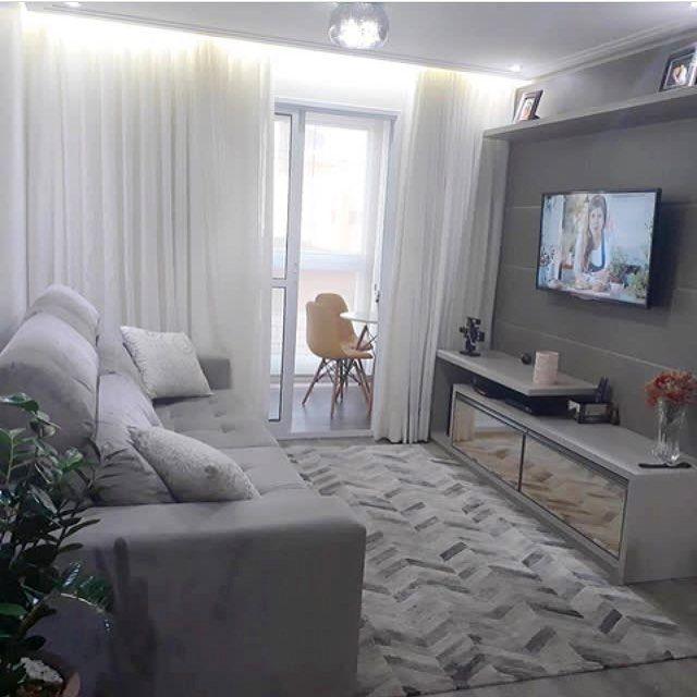 Hello people! Pra quem pediu por uma sala de tv compacta e moderna, inspiração desta tarde é para vocês!❤️✨ Projeto: Nosso Ap 26.