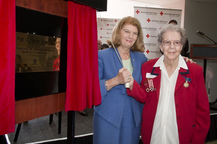 Pat Gosper and Her Excellency Ms Penelope Wensley AC at the opening #Cairns @RedCrossAU Wellbeing Centre