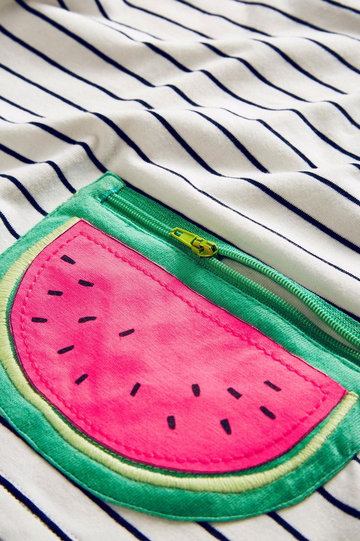 Buy Navy/White Stripe Watermelon T-Shirt (3mths-6yrs) from the Next UK online shop