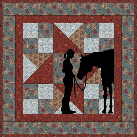 Best Friends Cowgirl Applique Wallhanging PDF Pattern