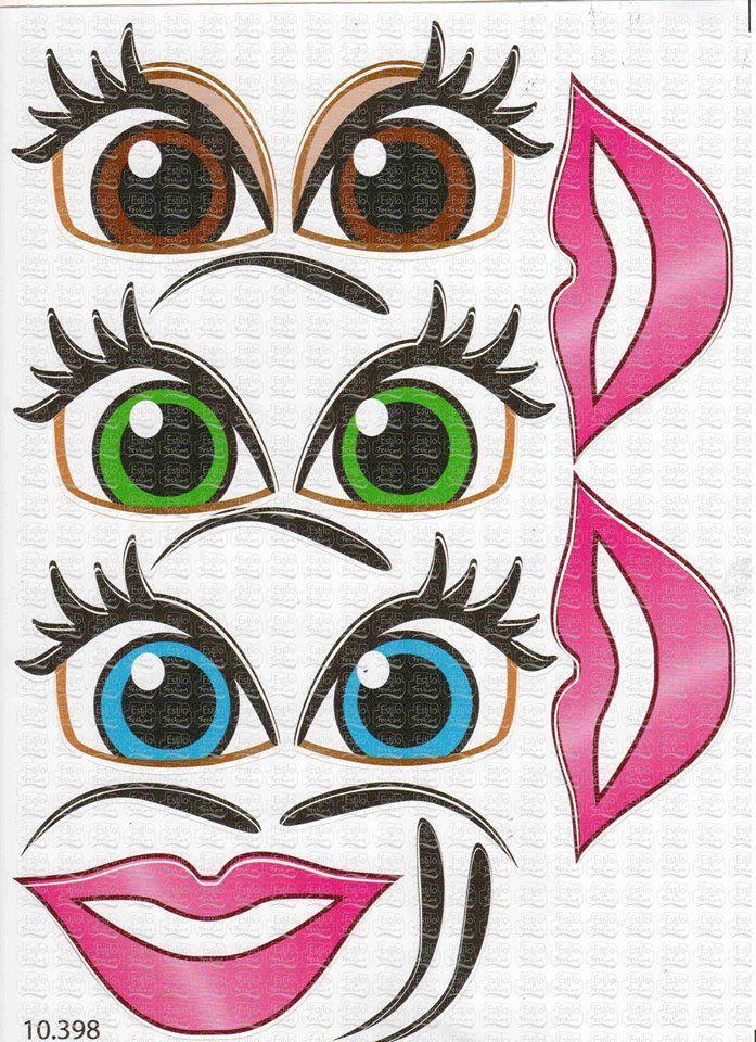 Adesivo Princesa para Boca e Olhos sortidos   Acessórios para festas