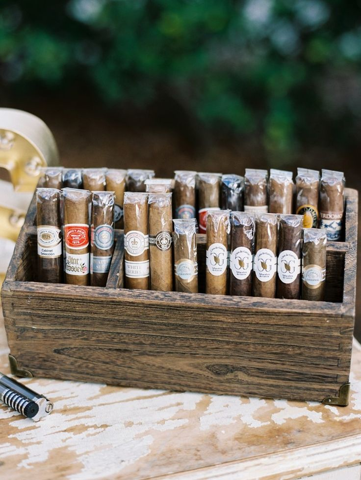 Celebratory cigar, anyone? If you know you're group loves a good one, consider a wedding cigar station.