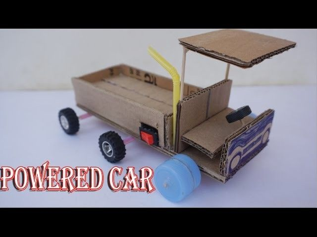 how to make powered car card board diy electric car for toy kids by lx