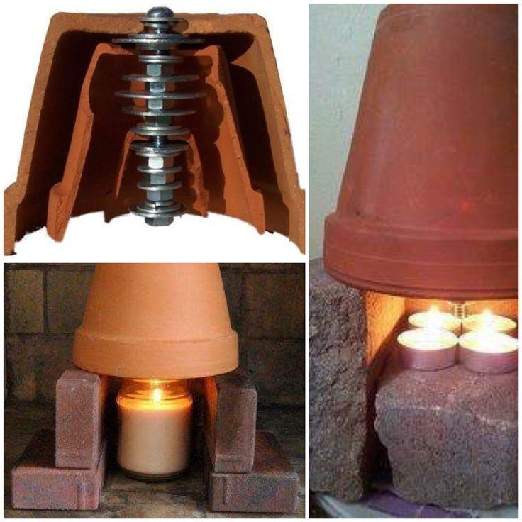 The Terra-Cotta space heater can heat up an entire room with just a few candles that cost roughly 15 cents per day!