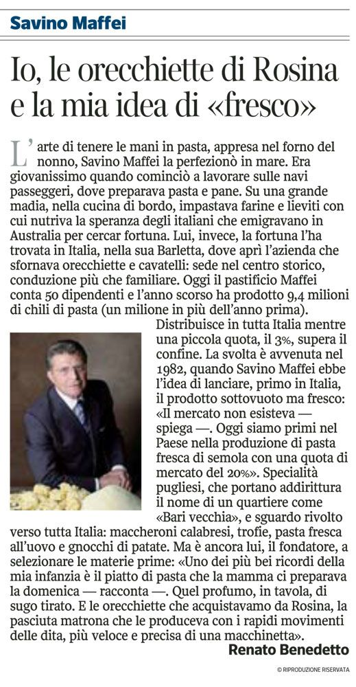 Savino Maffei - corriere della sera