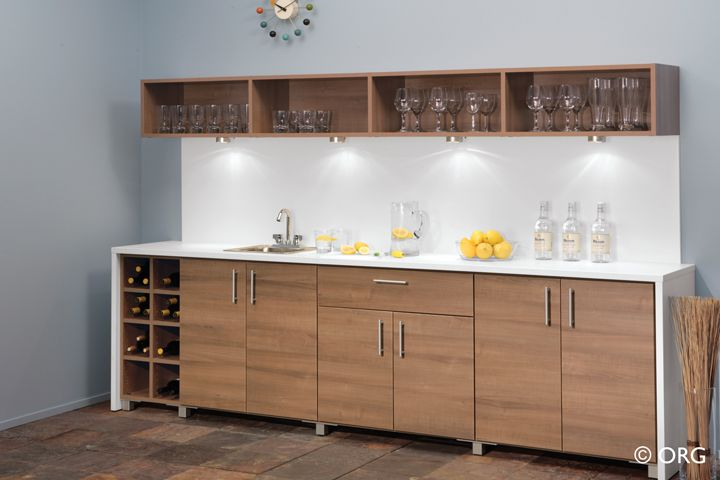 Home Entertainment | Eddie Z's Closet and Storage Systems - Chicago - NICE BAR IF ONLY WINE STORAGE & SINK AREA