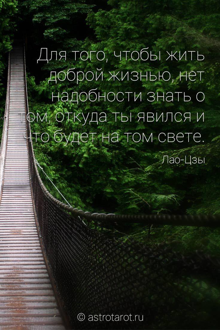Для того, чтобы жить доброй жизнью, нет надобности знать о том, откуда ты явился и что будет на том свете. Думай только о том, чего хочет не твоё тело, а твоя душа, и тебе не нужно будет знать ни о том, откуда ты явился, ни о том, что будет после смерти. Не нужно будет знать этого потому, что ты будешь испытывать то полное благо, для которого не существуют вопросы ни о прошедшем, ни о будущем. © Лао-Цзы  #лаоцзы #мудрость #дзэн #цитаты #умныемысли #астротарот #astrotarot
