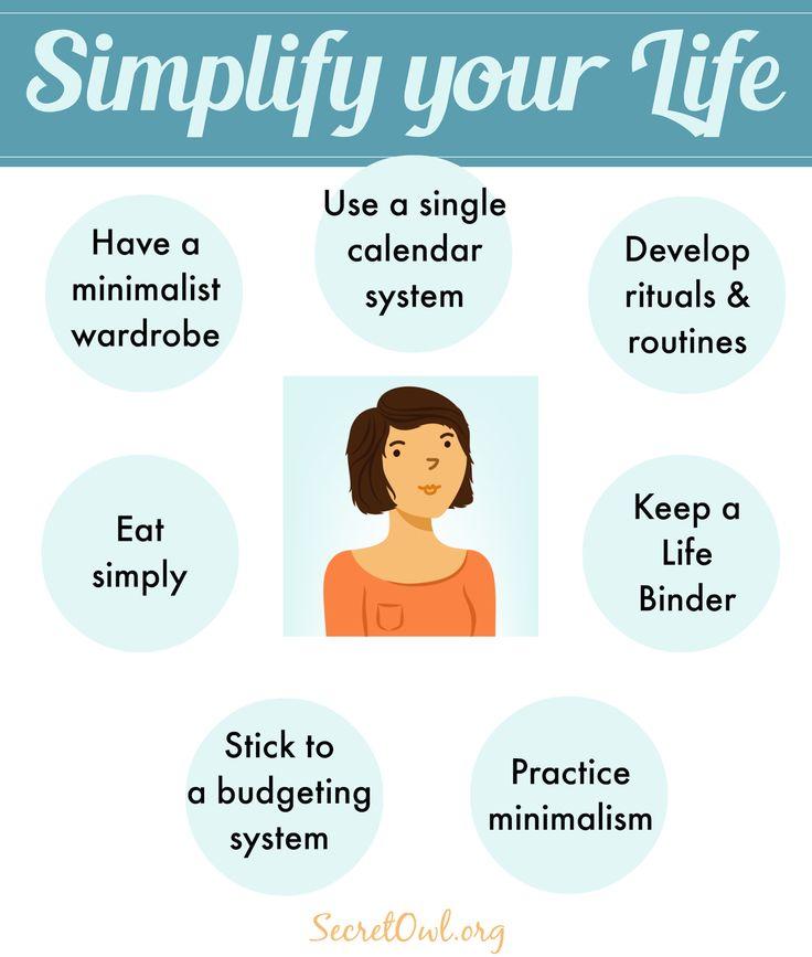 Secret OWL Society: 7 Ways to Simplify Your Life