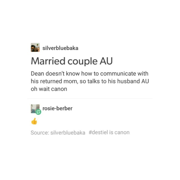 Dean and Cas are totally married. #Destiel married Au is actually canon