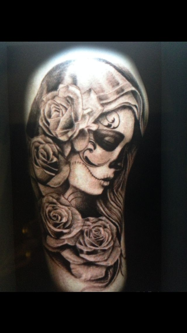 Rose day of the dead tattoo
