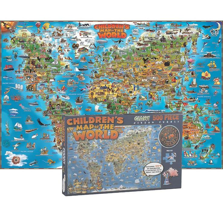 WORLD MAP JIGSAW PUZZLE 500 PCS 8