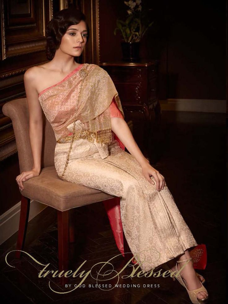 354 best thai style dress images on pinterest thai for Thai style wedding dress