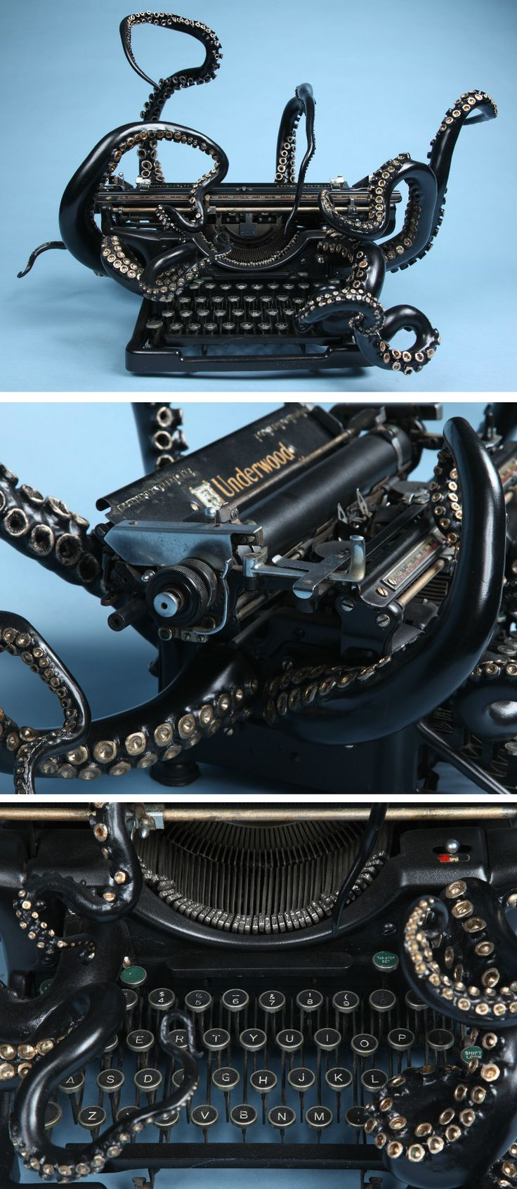 An Octopus Typewriter by Courtney Brown
