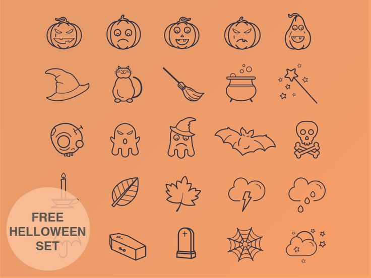 Helloween Icon Set by Tamara for Yalantis