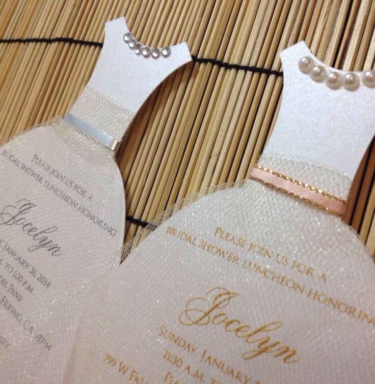 wedding shower invite sample%0A New to anaderoux on Etsy  Bridal Shower dress invitation wedding dress  invitations bachelorette Quinceanera
