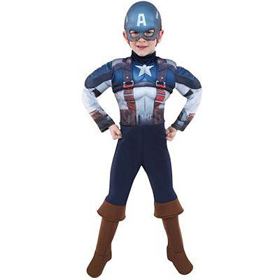 Captain America kostuum voor kinderen. Dit complete kostuum van Captain America bestaat uit het pak, laarzen en masker. Het kostuum is in verschillende kindermaten verkrijgbaar. Carnavalskleding 2015 #carnaval