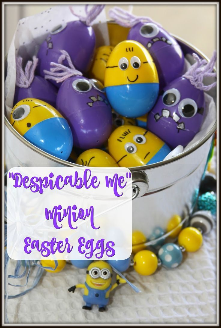 Despicable Me Minion Easter Eggs How To - an easy DIY for parents and kids!
