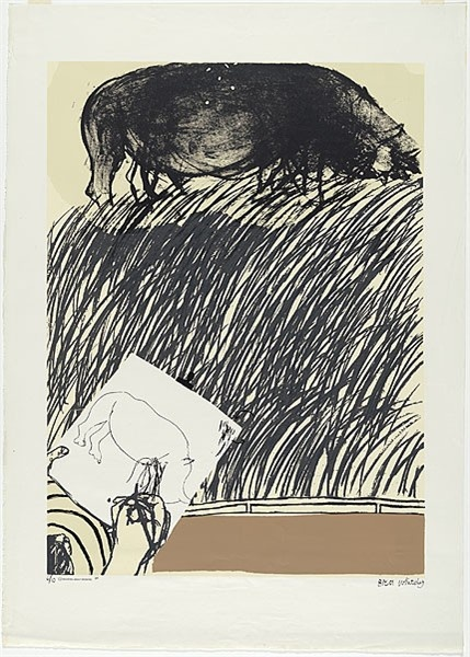 Drawing about drawing 1965 Brett Whiteley