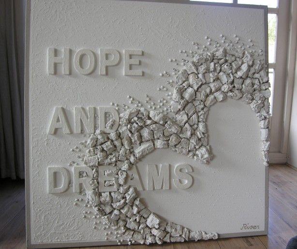 mooi wit doek van RIVER/MIrjam Buitenhuis