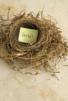 What is meant by 'empty nest syndrome'?