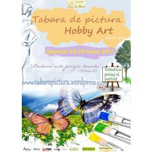 Afisul taberei de pictura Hobby Art pentru amatori din Apuseni- iunie 2015