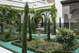 Garden at Paris Mosque, France