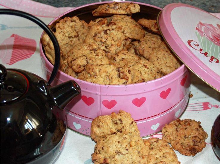 Receta de Cookies de chocolate con nueces y jengibre