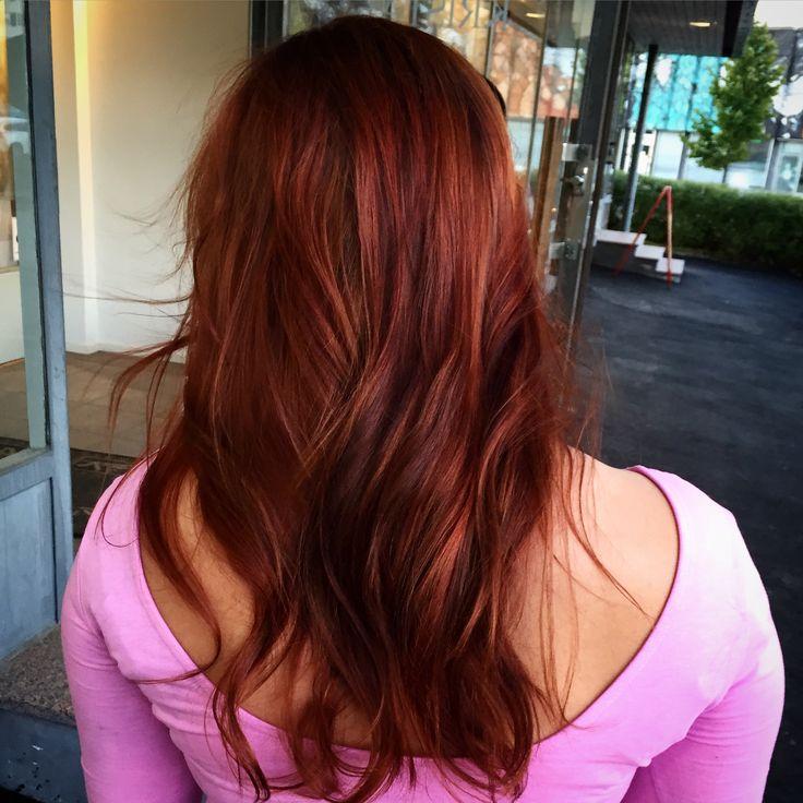Redhead - Punaiset hiukset & kupariset raidat. #olaplex #copperhair