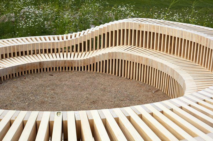 Udendørs opholdsmøbler i Accoya®. KU - Københavns Universitet.