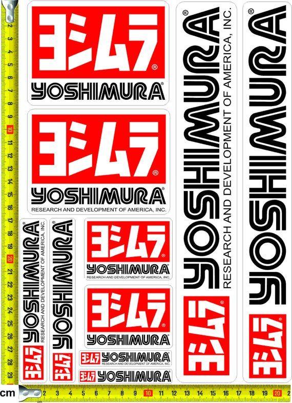 Yoshimura Stickers Decals Car Bike Street Racing In 2020 Decals Stickers Street Racing Stickers