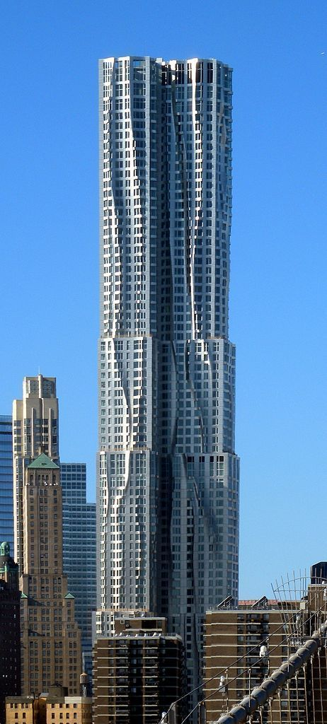 Happy Skyscraper Appreciation Day August 10! Beekman Tower - Frank Gehry - New York, USA #futuristicarchitecture