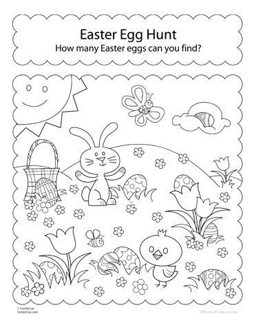 Hunt for Easter Eggs! (Printable Coloring Activity) | Spoonful