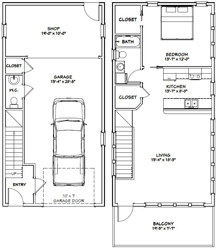 Garage Apartment Plans 2 Bedroom: 328 Best Images About Garage Apartment Plans On Pinterest
