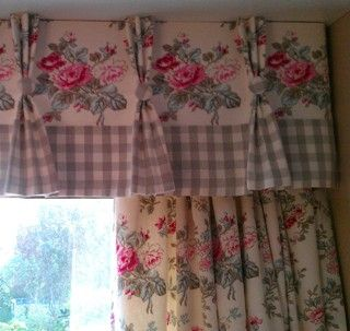 curtains........love florals and checks Really love the valance, but would probably not want the curtains.