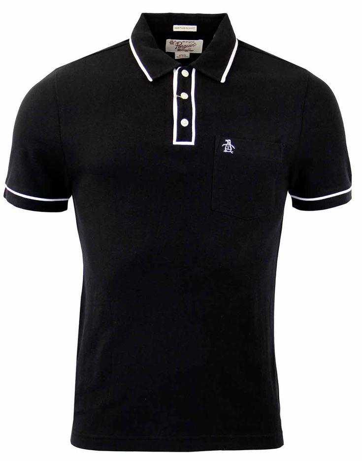 Brand: Original Penguin by Munsingwear. Key Points: Original Penguin True Black Earl Polo Shirt wit