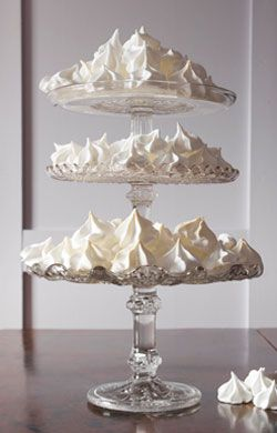 Triple Stack of Vintage Glass Cake Stands - RE store