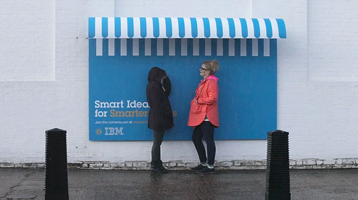 Street furniture billboards by IBM + ogilvy paris