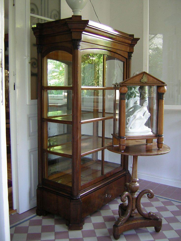 Kleine orig. Empire Wandvitrine um 1800, Biedermeier,mit Ariadne Skulptur,rar in Antiquitäten & Kunst, Mobiliar & Interieur, Mobiliar vor 1900   eBay!
