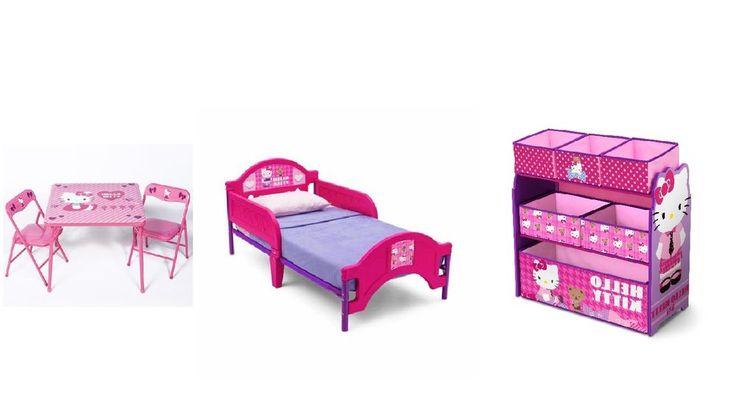 Hello Kitty 3-Piece Toddler Girl's Bedroom Set -Girl'sToddler Bedroom Set New! #HelloKitty