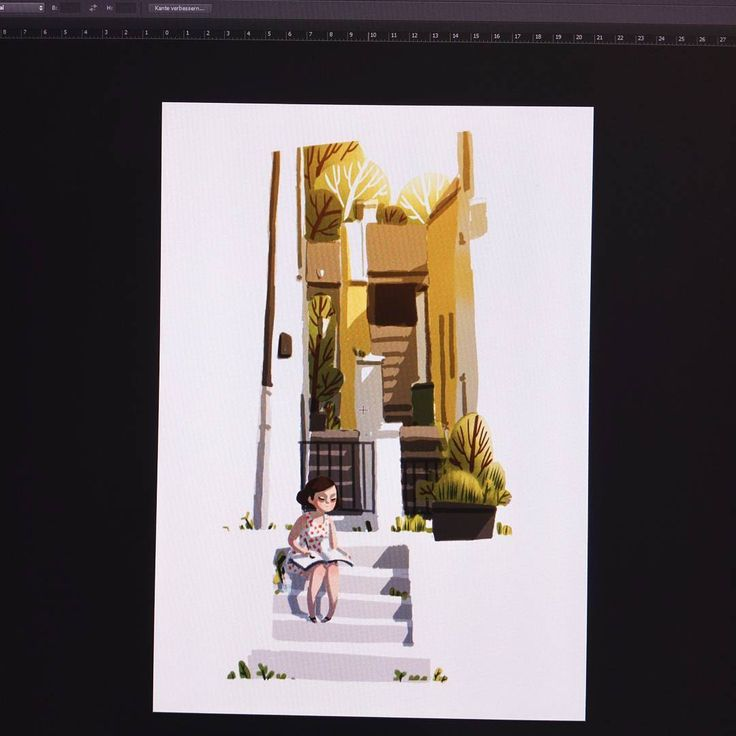 Sometimes i do color roughs and sketches for my watercolor illustrations digitaly. Especially when i want to try out something or doing work for clients or more complex illustrations/projects. This is a digital color rough for an illustration i am going to do for @escoda_brushes 🎨 . . Also: Thank you to all who response to my wacom pen-pressure problem and tried to help.To restart the wacom professional service solved the problem and special thanks to @ruben.wittich who helped me to find…