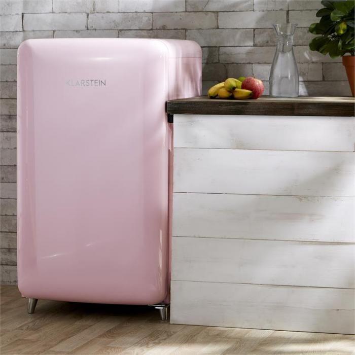 PopArt réfrigérateur rétro rose  55 cm /55 prof