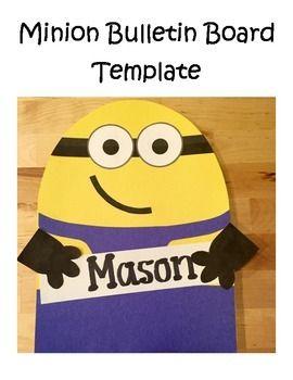 Minion Bulletin Board Template