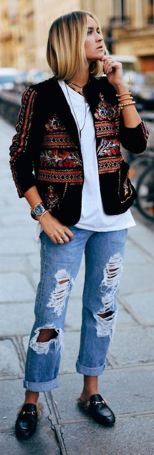 Nina Suess Ethnic Jacket Fall Inspo
