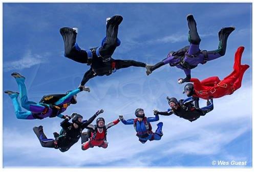 Martine's Load Organising - 8way Star - Skydive Langar    © Wes Guest