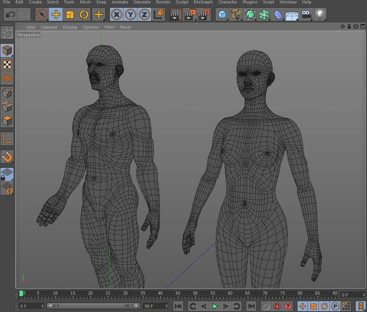 Low Poly Base Mesh Female and Male FREE 3d model ═ ► http://www.cinema4dtutorial.net/?p=3176