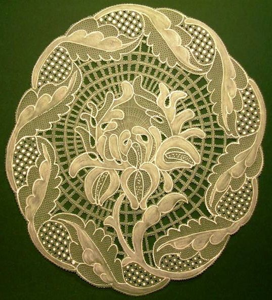 Chrysanthemum -folk art - pattern: Halas lace