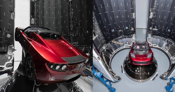 He Wasn't Kidding, Musk Shows Tesla Roadster Destined For Space #Elon_Musk #Tesla