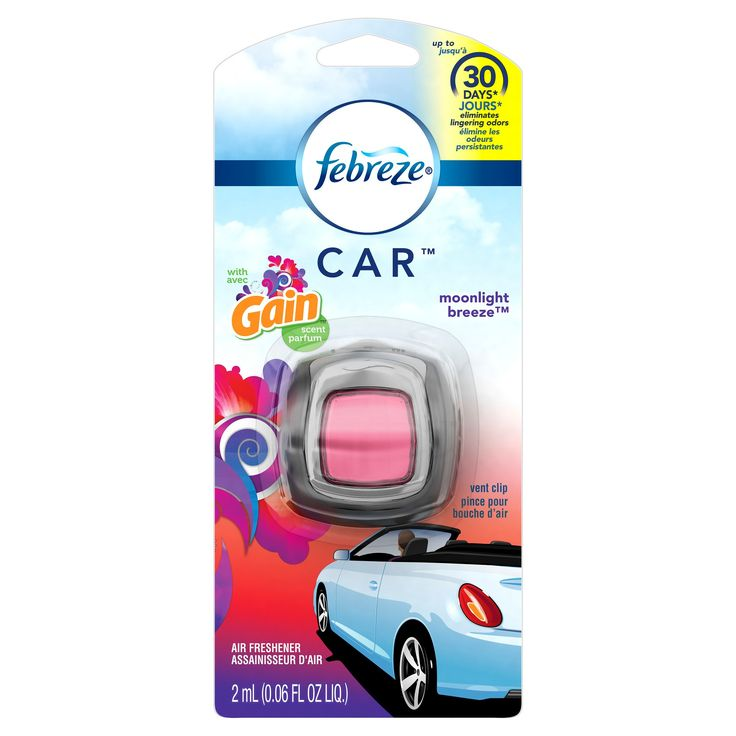 Febreze Car Gain Moonlight Breeze Air Freshener - 0.06 fl oz